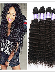 3Pcs/Lot Brazilian Virgin Hair Deep Wave 100% Brazilian Human Hair Weave Cheap Brazilian Curly Virgin Hair