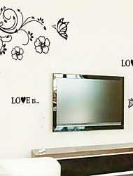 casa pequeña de animales removible etiqueta de la pared de la habitación / dormitorio para niños