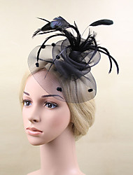 Women Feather/Net Fashion Flowers With Wedding/Party Headpiece(More Colors)