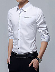 Men's  Gentlemen Style Embellished Shirt