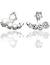 Earring Drop Earrings Jewelry Women Alloy / Imitation Pearl / Cubic Zirconia 1set Gold / Silver