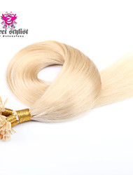 100g/lot Stock Light Color Mongolian Remy Nail Tip Hair Extensions 20 inch U Tip Hair Extensions 100gram NEW!!!