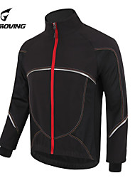 GETMOVING Cycling Jacket Unisex Bike Fleece Jackets Jersey Tops Waterproof Anatomic Design Fleece Lining Rain-Proof Front Zipper Wearable