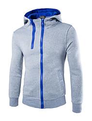 Men's Long Sleeve Hoodie & Sweatshirt , Polyester Pure