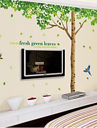 Oversized Fresh Tree Living Room Bedroom Removable PVC Transparent Film Wall Stickers