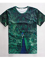 Women's High Quality Creative Generous Unique Natural Summer Breathable 3D Style T-Shirt——The Peacock