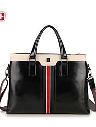 swissgear® maletín de cuero bolsas de mensajero del ordenador portátil del negocio del hombro del totalizador de la vendimia