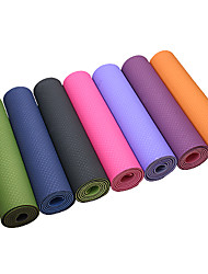 Extra Thick Slip Resistant Eco-Friendly Tpe Yoga Pilates Mat (6mm Intranet Reinforcement)
