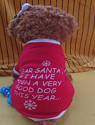 Hunde - Winter - Fasergemisch Rot - T-shirt - XS / S / M / L