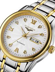 guanqin bracelet en acier de visite vintage montre étanche montre automatique à double calendrier montre-bracelet