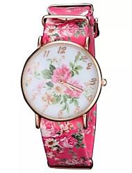 Women's  Gold Case Dial PU Band Analog Quartz Wrist Watch (Assorted Colors)