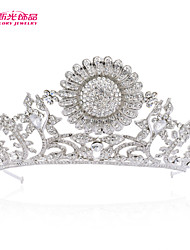 Neoglory Jewelry Sunflower Wedding Tiaras Crystals Crowns Bridal Hair Accessories Women Wedding Jewelry Headpeice