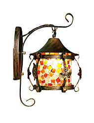 The Mediterranean Garden Flowers And European Style Bedroom Living Room Wall Mirror Lamp Lantern