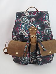 2015 женщин отпечатки животных рюкзак колледжа девушки холст случайные сумки ежедневных поездок на открытом воздухе рюкзаки
