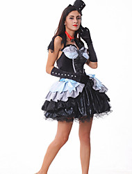 Vampire Halloween Witch Costume DS dance costume with the devil uniform temptation real puff princess skirt