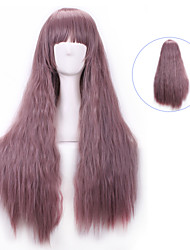 Harajuku Lolita Sex Products Brown Pink Long Curly Hair Peruca Synthetic Wigs Femme Anime Ombre Cosplay Wigs