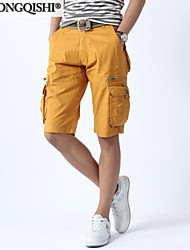 AOLONGQISHI® Men's Casual Pure Shorts Pants (Canvas/Cotton) 05