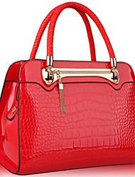 WEST BIKING® 2015 Fashion Patent Leather Crocodile Pattern Mobile Messenger Bag Wild Women