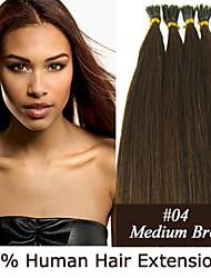20 Zoll Keratin Stockspitze / i Spitze 0,5 g / s malaysische menschliche Haarverlängerungen 13 Farben für Frauen Schönheit