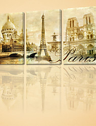 VISUAL STAR®Modern Paris Landscape Canvas Print For Home Decoration