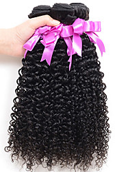 3Pcs/Lot Mongolian Kinky Curly Hair Afro Kinky Curly Virgin Human Hair Weave Natural Black