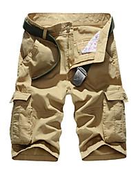 In summer men's Shorts Mens leisure pants 5 cotton loose XL Multi Pocket tooling pants
