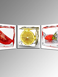 Vegetable and Fruits Lemon Canvas Wall Art for Kitchen Decor Ready to Hang