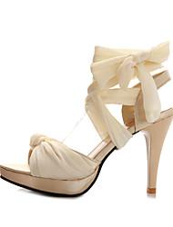 Women's Shoes  Stiletto Heel Peep Toe Sandals Office & Career/Dress Black/Green/Red/Beige