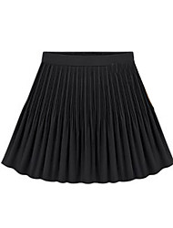 Women's Sexy Casual Cute Plus Sizes Inelastic Thin Above Knee Skirts (Chiffon)