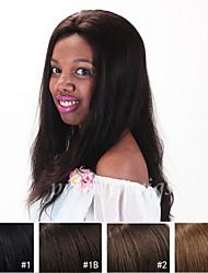 Grado 7a 10 '' - 24 '' pelo chino recto natural virginal humano pelucas pelucas llenas del cordón con el pelo del bebé para las mujeres