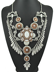 New Jewelry Yumfeel Factory Original Unique Design Vintage Jewelry 2 Tone Faux Stone Statement Necklace
