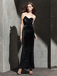 TS Couture® Formal Evening / Black Tie Gala Dress Plus Size / Petite Sheath / Column Strapless / Sweetheart Ankle-length Velvet