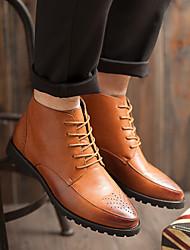 Scarpe da uomo Casual Di pelle Stivali Nero/Marrone/Rosso