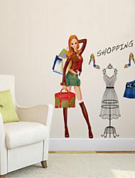 stickers muraux de style de décalcomanies de Wall Mur fashion girl PVC autocollants