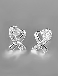 Hot Selling Products 2015 Italy Style Silver Plated Stud Earrings for Lady Women's/Girl's Jewelry
