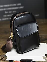 мужской пу посланник сумка - коричневый / черный