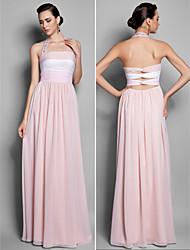 Formal Evening / Prom / Military Ball Dress - Multi-color Plus Sizes / Petite Sheath/Column Halter Floor-length Chiffon