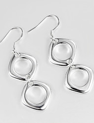 2015 Hot Selling Products Italy Style Silver Plated Drop Earrings Wedding Jewelry for Men And Women