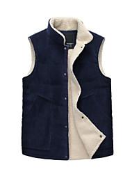 Men's Casual Sleeveless Fleece Thick Vest