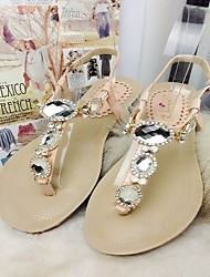 Women's Shoes Wedge Heel Wedges/Round Toe Sandals Casual Pink/Beige