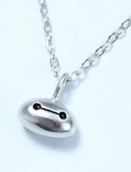 colar de prata esterlina colar de pingente de colar branco baymax marines super-branco