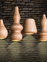 Pendant Light 4 Light Rustic Painting Wood