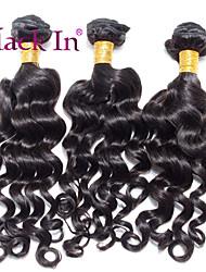 """3 pcs lote 12 """"-30"""" Nadi brasileiros onda tramas do cabelo naturais virgens remy preto cabelo humano tecer emaranhado livre"""
