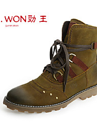 Men's Shoes Outdoor/Casual/Athletic Leather Boots Brown/Bronze
