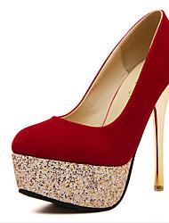 Women's Shoes  Stiletto Heel Heels Pumps/Heels Casual Black/Red