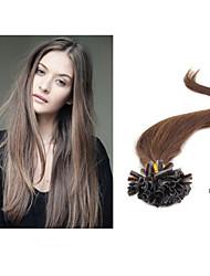 "1pc/lot 18""-30""Brazilian Virgin Hair Pro-bonded Hair Extension Nail Tip Hair Extension1g/strand 100g/pc"