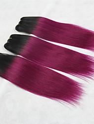 "3 Pcs/Lot+10""-18""+ Indian (Italian) Virgin Hair+ color(1b/pink)+Straight.."