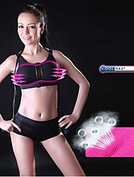 Women's Sports Vest With Front Zip Chest Pad Anti-Vibration Wicking Quick-Dry