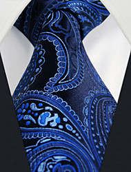 U11 Shlax&Wing Mens Necktie Ties Navy Dark Blue Paisley Silk Handmade Business New