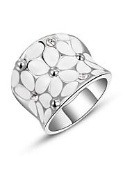 Anéis Mulheres Zircônia Cubica / Liga Zircônia Cubica / Liga 6 / 7 / 8 Dourado / Prata